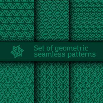 Naadloos patroon met geometrische mozaïekstijl