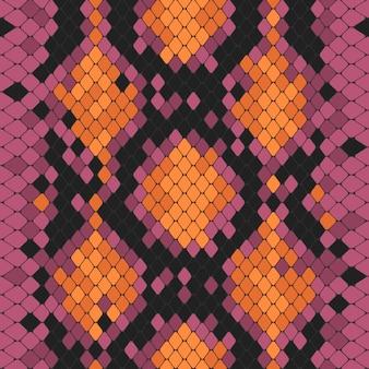 Naadloos patroon met giftige pythonafdruk