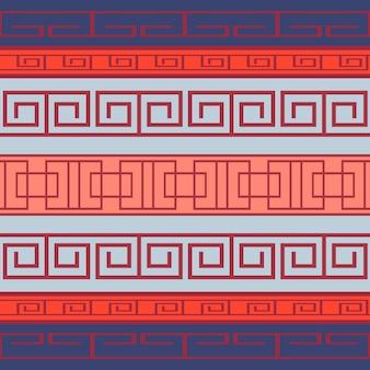 Naadloos patroon met grieks patroon voor uw creativiteit
