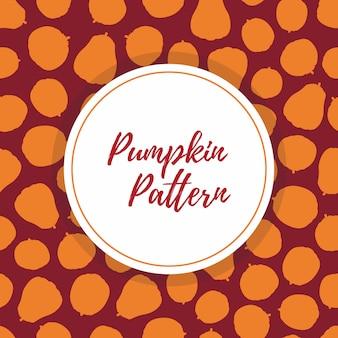 Naadloos patroon met halloween-silhouettenpompoenen