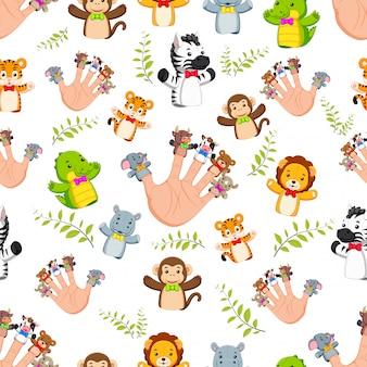 Naadloos patroon met hand