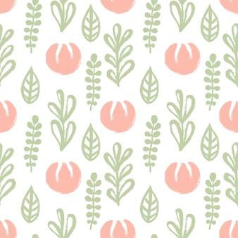 Naadloos patroon met handgetekende bloemen. vectorontwerp.