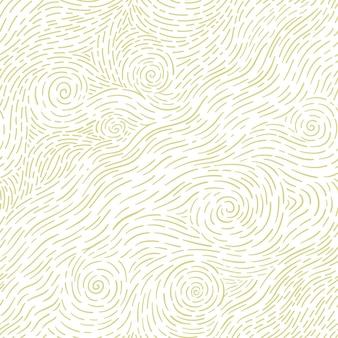 Naadloos patroon met handgetekende zeegolven