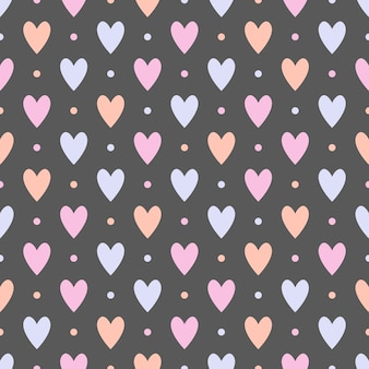 Naadloos patroon met harten.