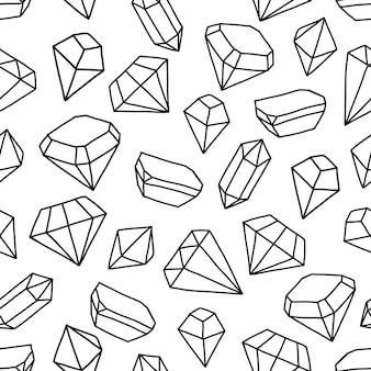 Naadloos patroon met heldere kristallen