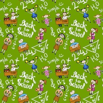 Naadloos patroon met kinderen