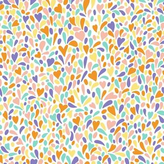 Naadloos patroon met kleurrijk vuurwerk