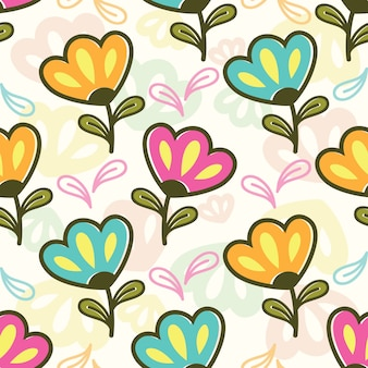 Naadloos patroon met kleurrijke bloemen