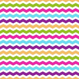 Naadloos patroon met kleurrijke chevron