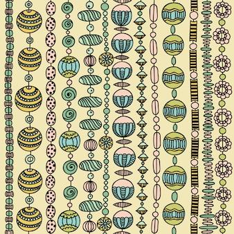 Naadloos patroon met kleurrijke kralen