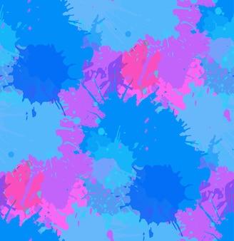 Naadloos patroon met kleurrijke plons en spray