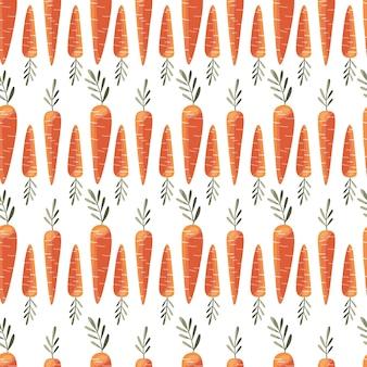 Naadloos patroon met kleurrijke wortelen