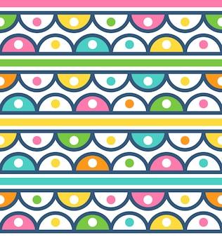 Naadloos patroon met leuk ornament voor behang