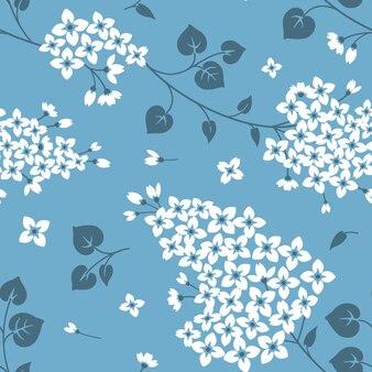 Naadloos patroon met lila bloemen