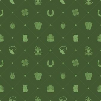 Naadloos patroon met lucky charms