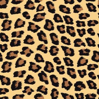 Naadloos patroon met luipaardhuid.