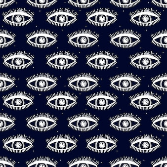 Naadloos patroon met magisch patroon. mystiek pictogram