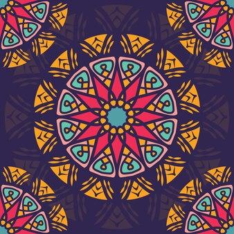 Naadloos patroon met mandala van de bohostijl