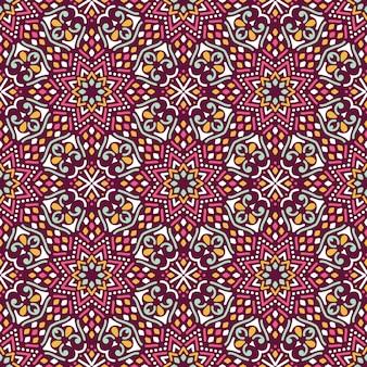 Naadloos patroon met mandala