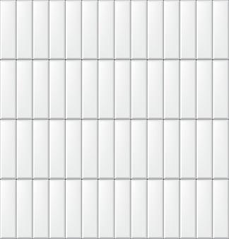 Naadloos patroon met moderne verticale rechthoekige witte tegels. realistische textuur. illustratie.
