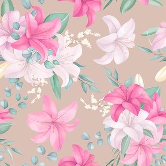 Naadloos patroon met mooie bloemen