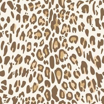 Naadloos patroon met natuurlijke luipaardprint