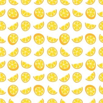 Naadloos patroon met oranje citrus