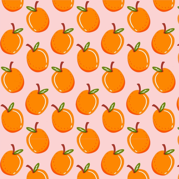 Naadloos patroon met oranje fruit