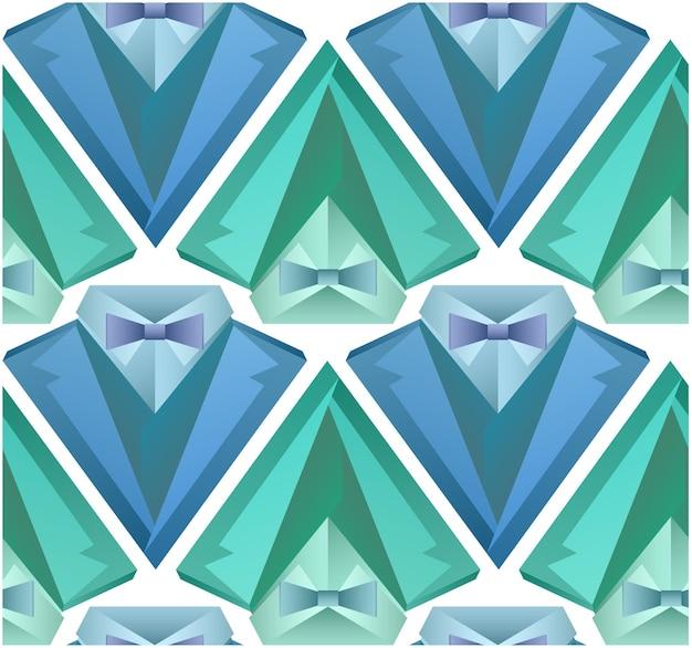 Naadloos patroon met origami herenkostuum voor uw ontwerp