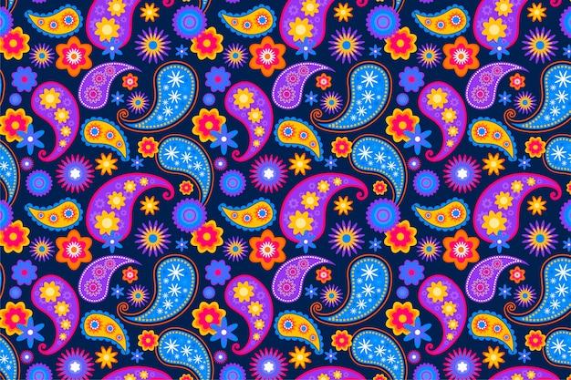 Naadloos patroon met paisley ornament