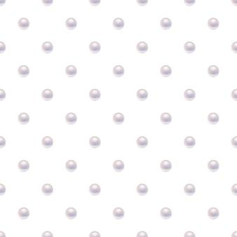 Naadloos patroon met parels