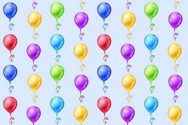 Naadloos patroon met partijballons.