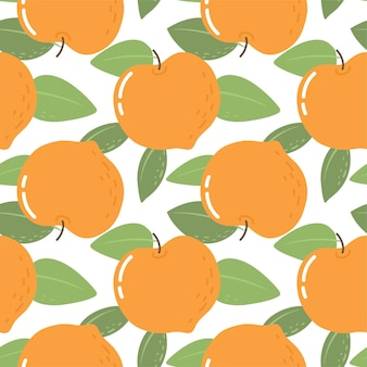 Naadloos patroon met perziken helder patroon voor behangstof en papier