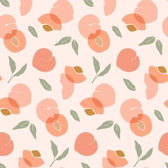 Naadloos patroon met perziken