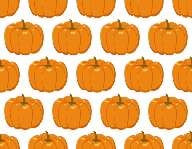 Naadloos patroon met pompoenen. feestelijke herfstdecoratie voor halloween en thanksgiving day. vakantie oktober achtergrond