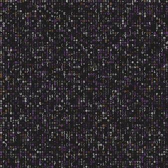 Naadloos patroon met programmacode