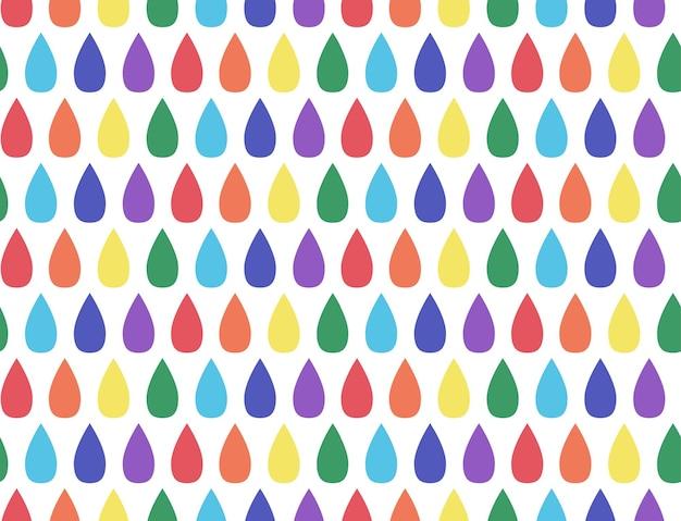 Naadloos patroon met regenboogdruppels voor je creativiteit