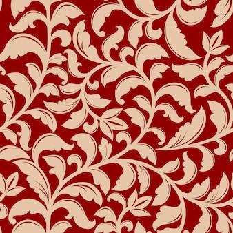 Naadloos patroon met retro bloemen