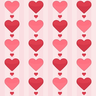 Naadloos patroon met rode harten op een roze. vector illustratie
