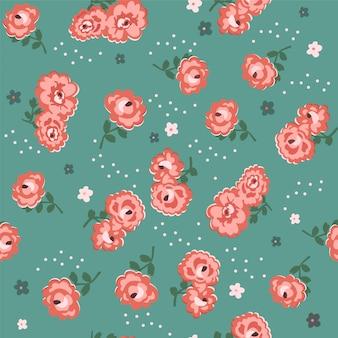 Naadloos patroon met rozen.