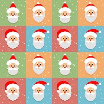 Naadloos patroon met santa claus-avatar