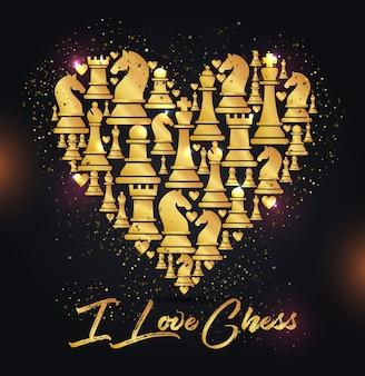 Naadloos patroon met schaakstukken