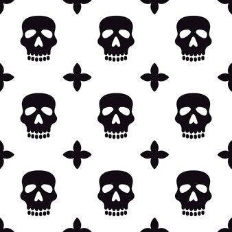 Naadloos patroon met schedels