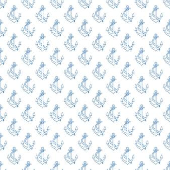 Naadloos patroon met schetsankers