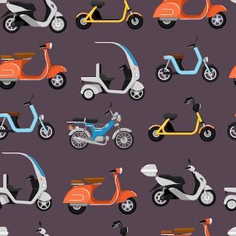 Naadloos patroon met scooters