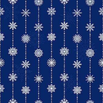 Naadloos patroon met sneeuwvlokken, vectorillustratie