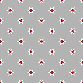 Naadloos patroon met sterren afgebeeld op grijze oppervlakte vectorillustratie