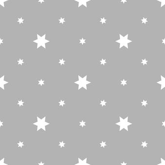 Naadloos patroon met sterren op grijze oppervlakte vectorillustratie