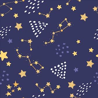 Naadloos patroon met sterren