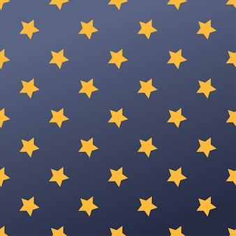 Naadloos patroon met sterrenillustratie.